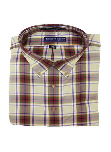 Hensley's Hensley's LS BD Twill Multi Plaid Shirt