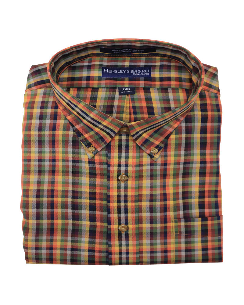Hensley's Hensley's LS BD Twill Multi Check Shirt