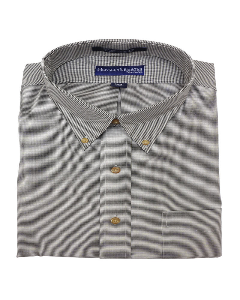 Hensley's Hensley's LS BD Twill Mini Houndstooth-BL