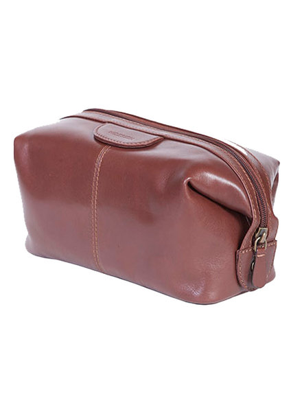 Scully Scully Tashi Brown Leather Shave Kit
