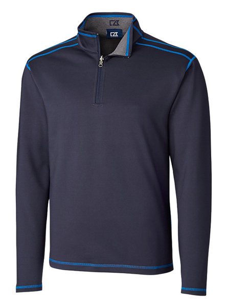 Cutter & Buck Cutter & Buck LS Evergreen Rev Overknit-Navy