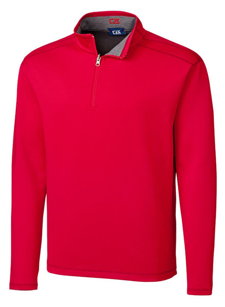 Cutter & Buck Cutter & Buck LS Evergreen Rev Overknit-Red