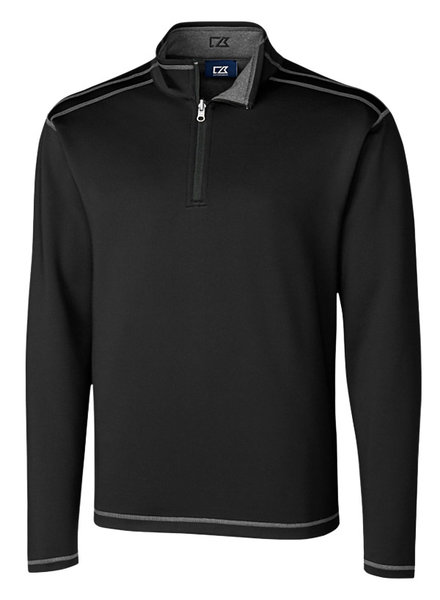Cutter & Buck Cutter & Buck LS Evergreen Rev Overknit-Black