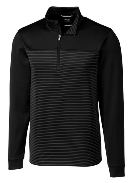 Cutter & Buck Cutter & Buck Traverse Stripe 1/2 Zip-BK