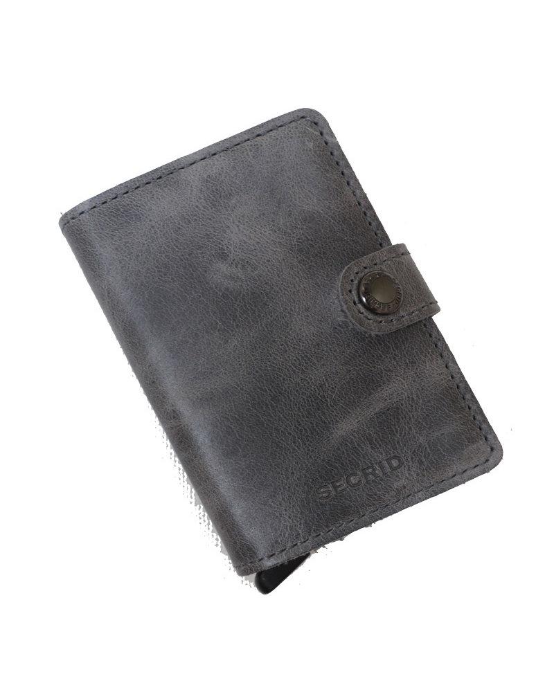Secrid Vintage Grey-Black Mini Wallet
