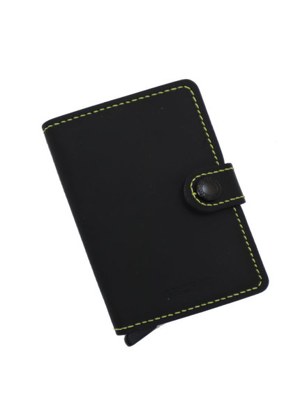 Secrid Matte Black & Yellow Mini Wallet
