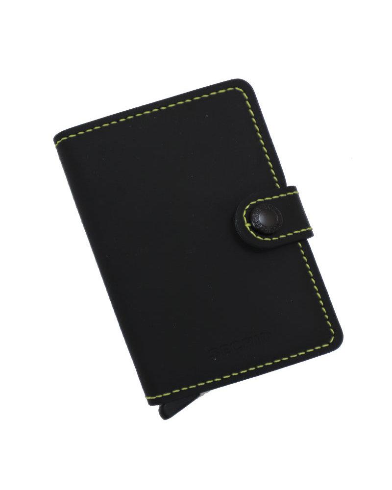 Secrid Secrid Matte Black & Yellow Mini Wallet