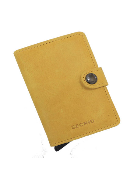 Secrid Vintage Ochre Mini Wallet