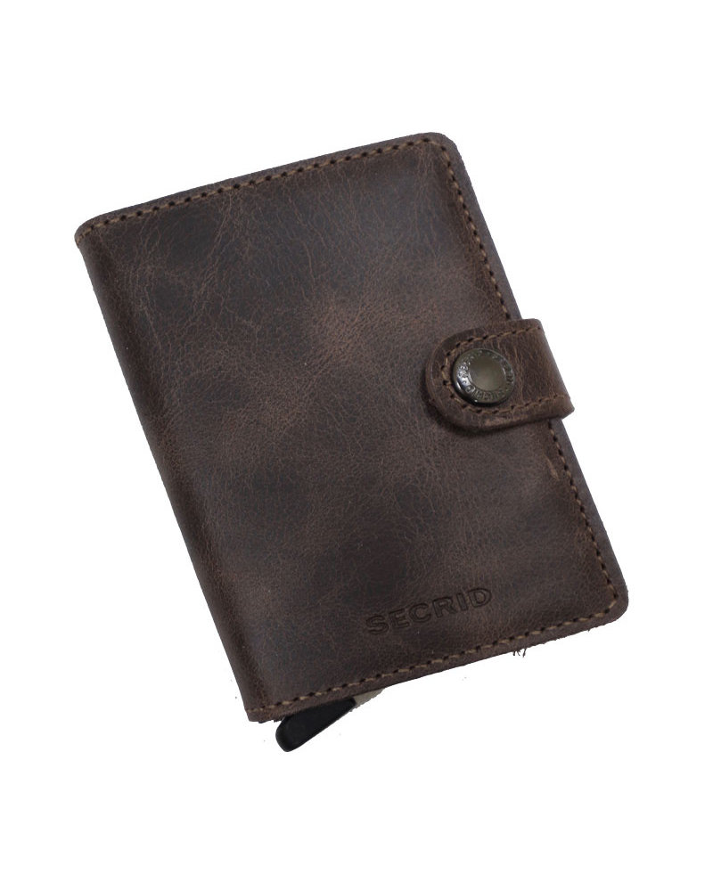Secrid Vintage Chocolate Mini Wallet