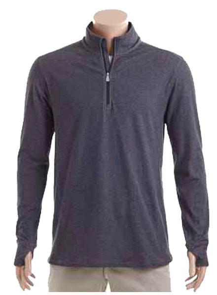 Tommy Bahama Tommy Bahama Palm Valley 1/2 Zip-Black Hthr
