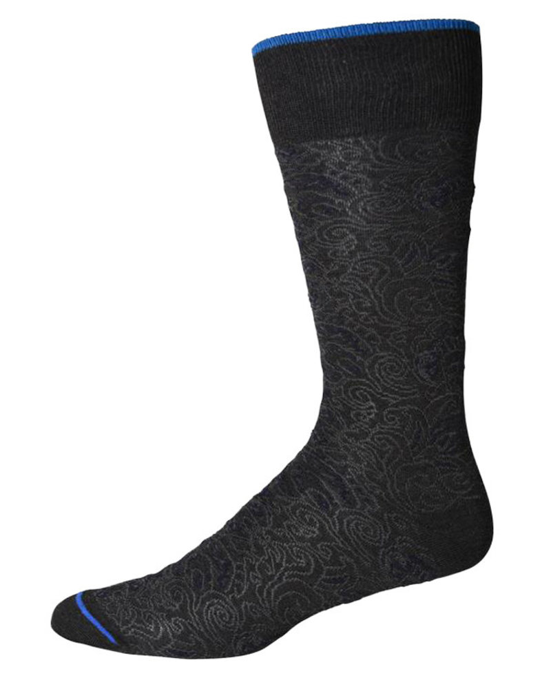 Robert Graham Robert Graham XL Black Pirro Socks