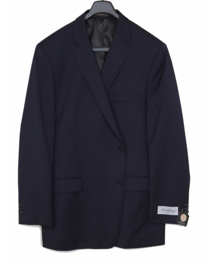 Eisenberg Eisenberg Solid Navy Suit Separate Coat