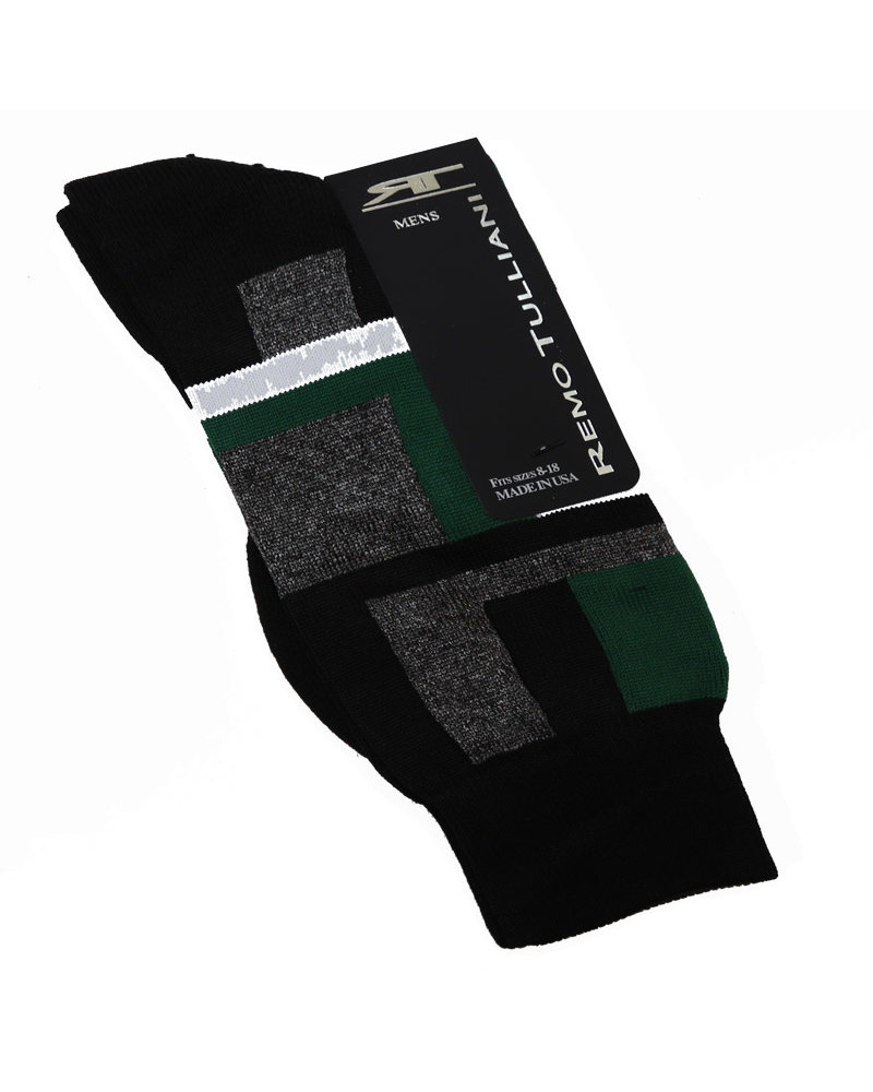 Remo Tulliani Remo Tulliani Sioux Black/Green Socks