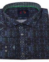 John Lennon John Lennon LS Black/Navy Geo Shirt