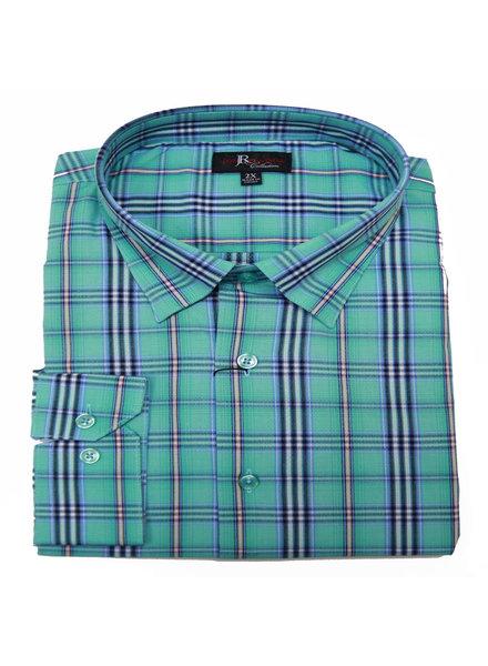 Jon Randall F/X Fusion JR LS Watson Plaid Jade Shirt