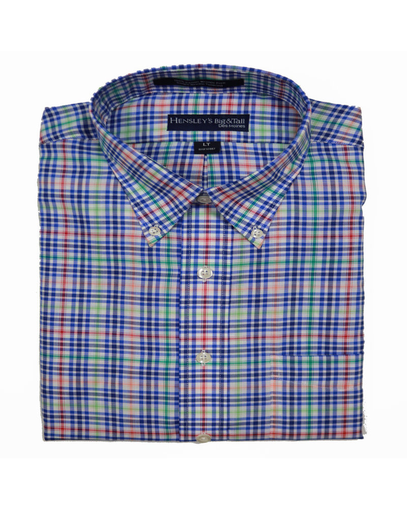 Hensley's Hensley's LS BD Cotton Multi Plaid Shirt