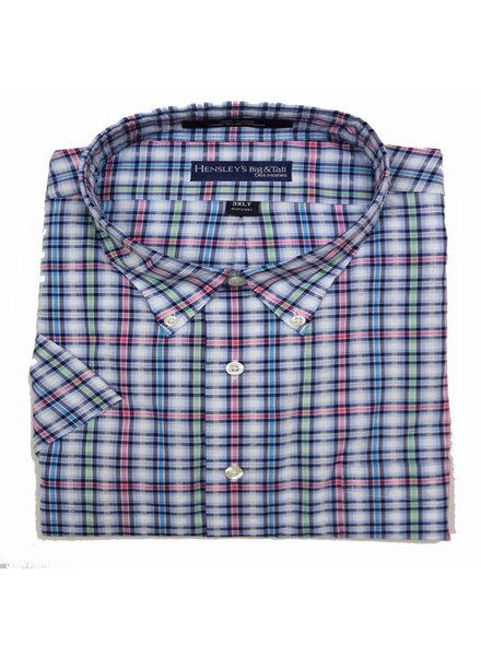 Hensley's Hensley's SS BD Pink Seersucker Shirt