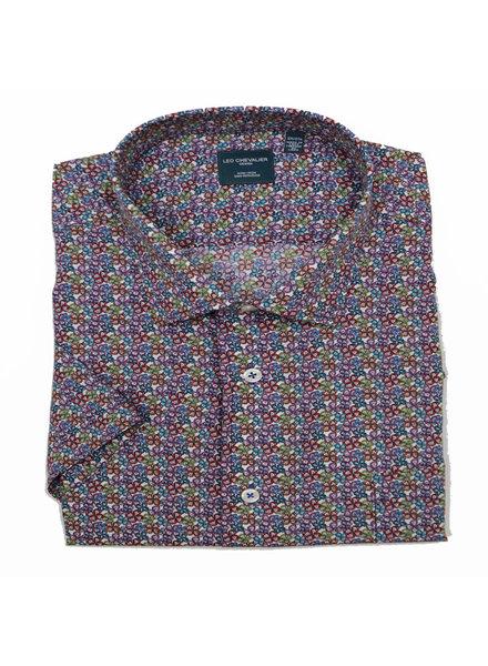 Leo Chevalier Leo Chevalier SS Non-Iron Multi Flower Shirt