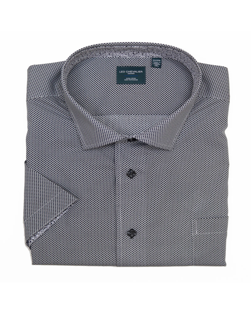 Leo Chevalier Leo Chevalier SS Non-Iron Black Dot Shirt