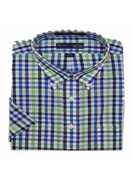 Hensley's Hensley's SS BD Lime Check Shirt