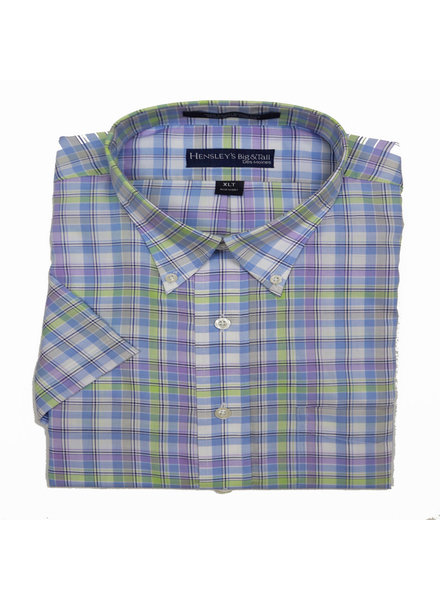 Hensley's Hensley's SS BD Multi Plaid Shirt