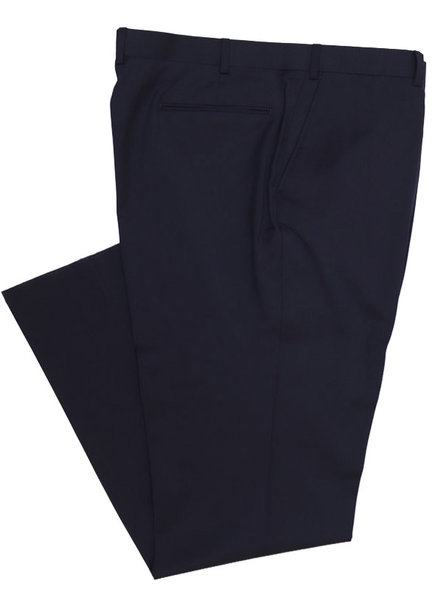 Eisenberg Solid Navy Suit Separate FF Pants
