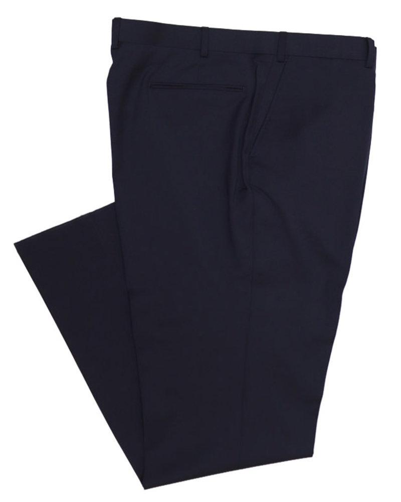 Eisenberg Eisenberg Solid Navy Suit Separate FF Pants