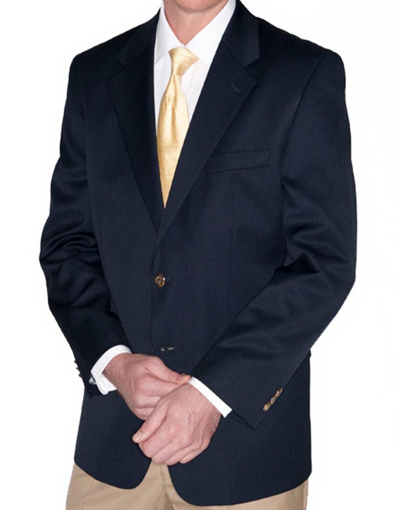 Eisenberg Navy Wool Blazer