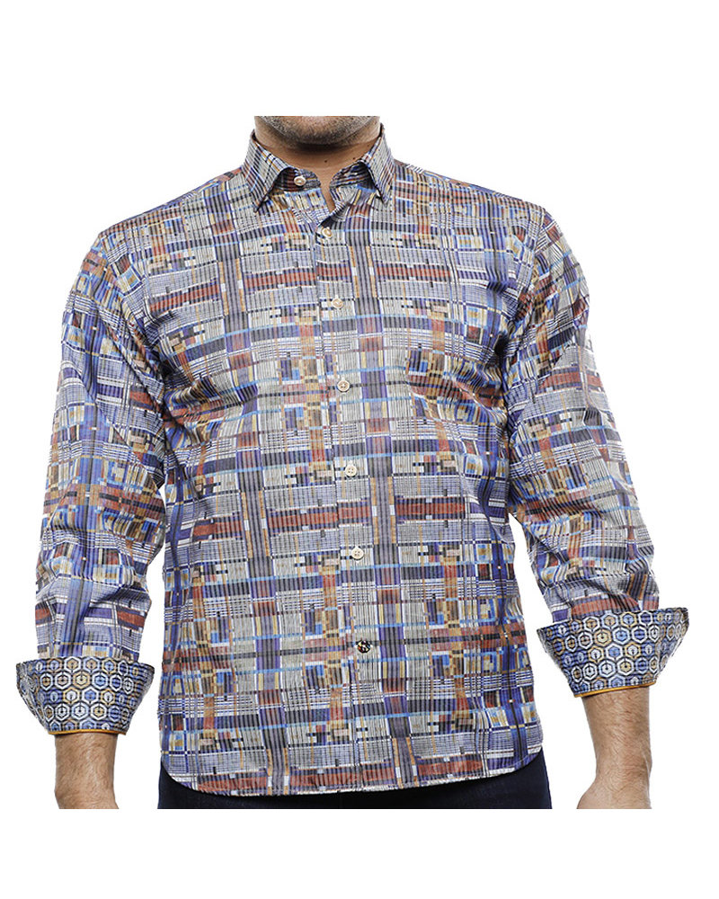 Luchiano Visconti Hensley's LV LS Multi Plaid Shirt