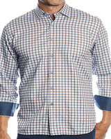 Luchiano Visconti Hensley's LV LS Brown/Navy Check Shirt