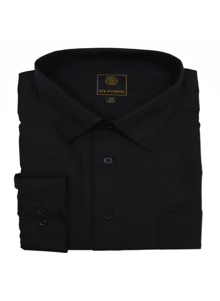 F/X Fusion F/X Fusion LS Easy Care Black Pin Dot Shirt