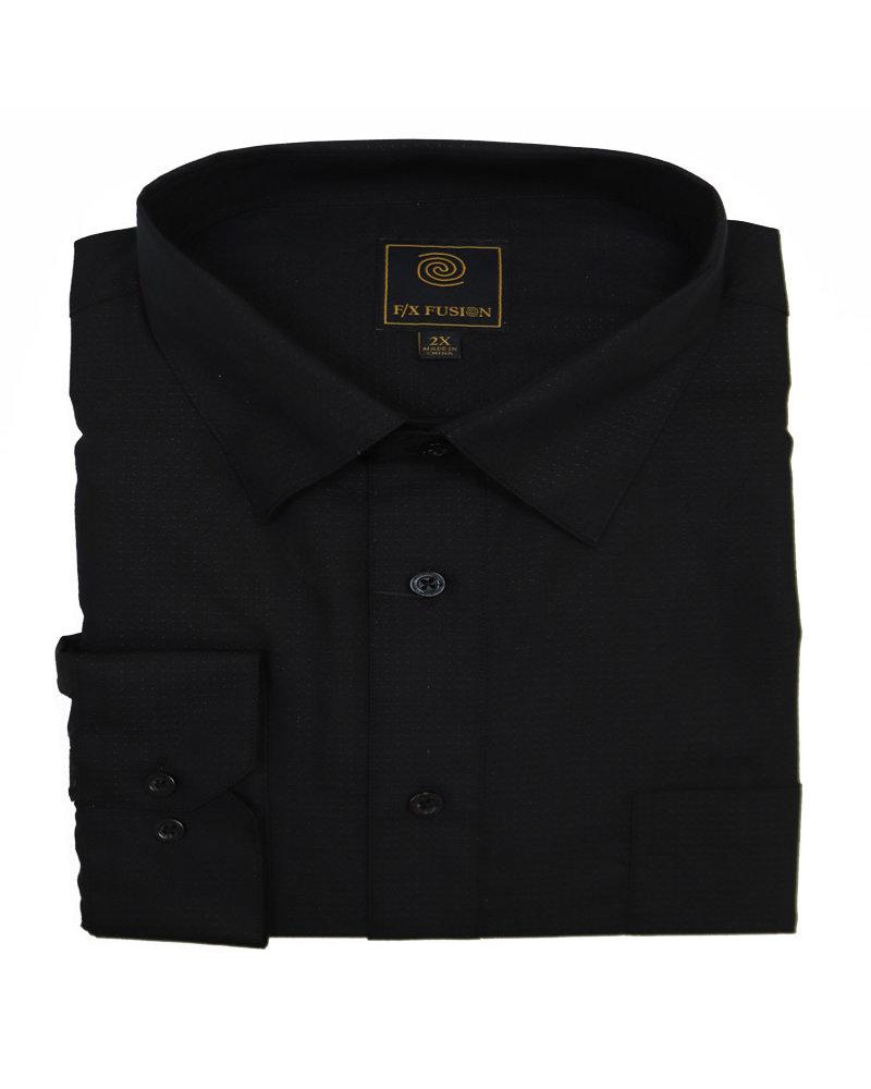 F/X Fusion F/X Fusion LS Easy Care Black Pin Dot Shirt