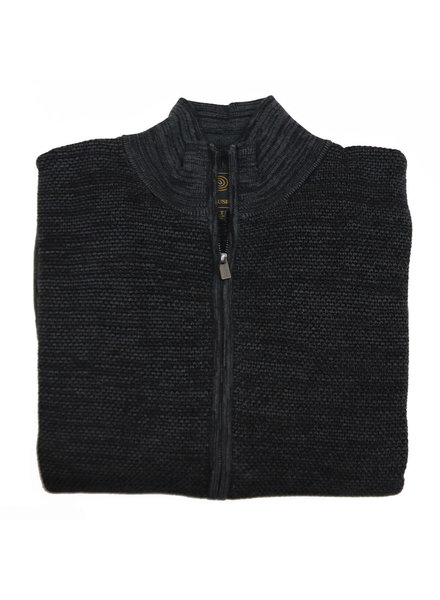 F/X Fusion F/X Fusion Full Zip Charcoal Textured Mock