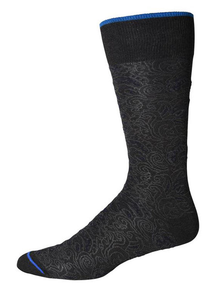 Robert Graham Robert Graham XL Charcoal Pirro Socks
