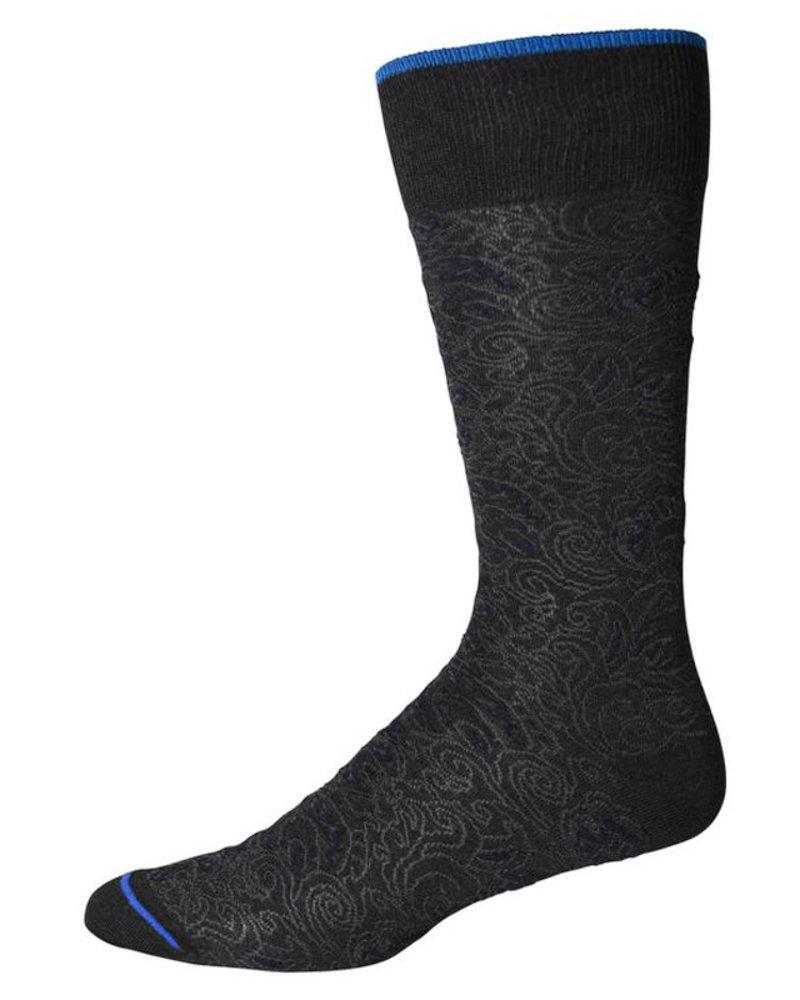 Robert Graham Robert Graham XL Charcoal Pirro Socks