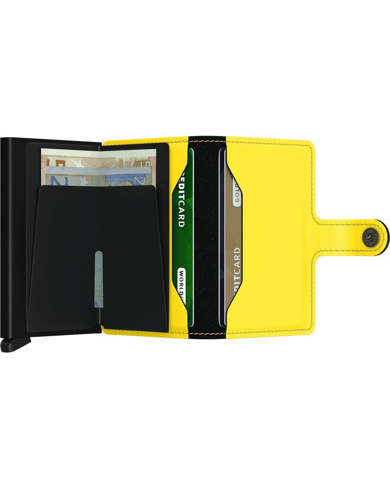 Secrid Matte Black & Yellow Mini Wallet