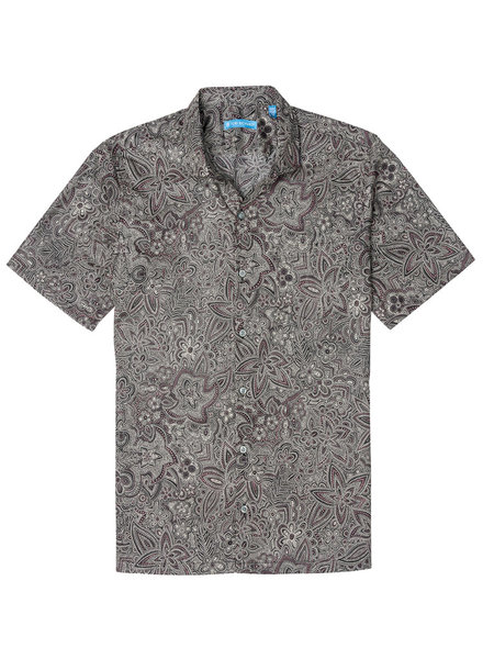 Tori Richard Black Pastiche Cotton Lawn Shirt