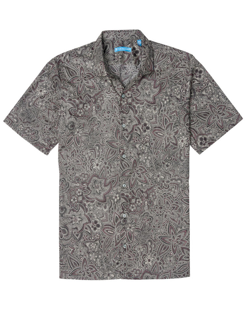 Tori Richard Tori Richard Black Pastiche Cotton Lawn Shirt