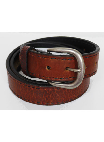 "Boston Leather 11/2"" Bison Leather Belts"