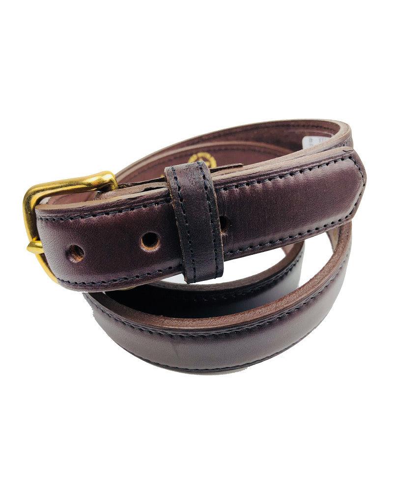 "Boston Leather Boston Leather 11/2"" Bison Leather Belts"