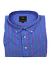 F/X Fusion F/X Fusion SS Easy Care Royal Multi Check Shirt