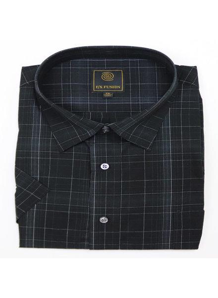 F/X Fusion F/X Fusion SS Easy Care Black Grid Shirt
