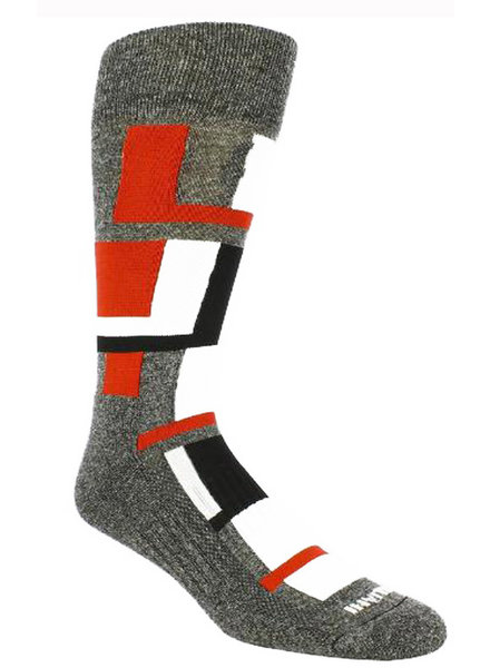 Remo Tulliani Remo Tulliani Sioux Charcoal/Red Socks