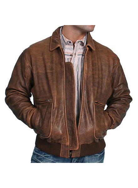 Scully Scully Vintage Lamb Brown Bomber Jacket