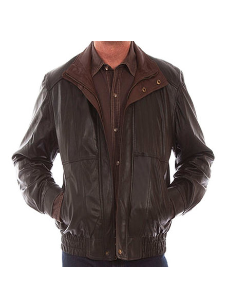 Scully Scully Dbl Collar Featherlite Leather Jacket