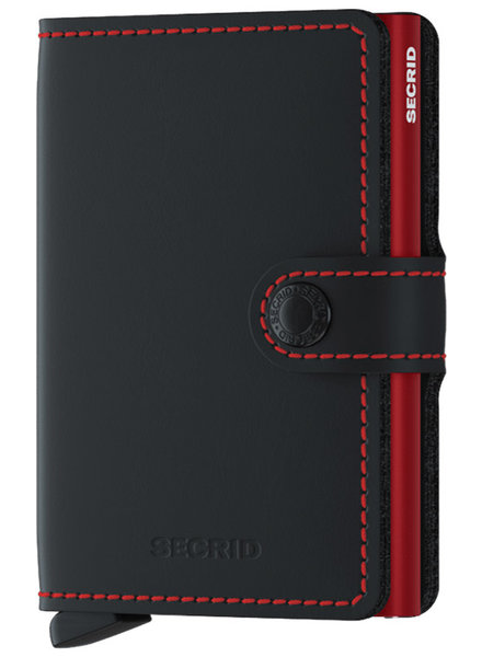 Secrid Matte Black & Red Mini Wallet
