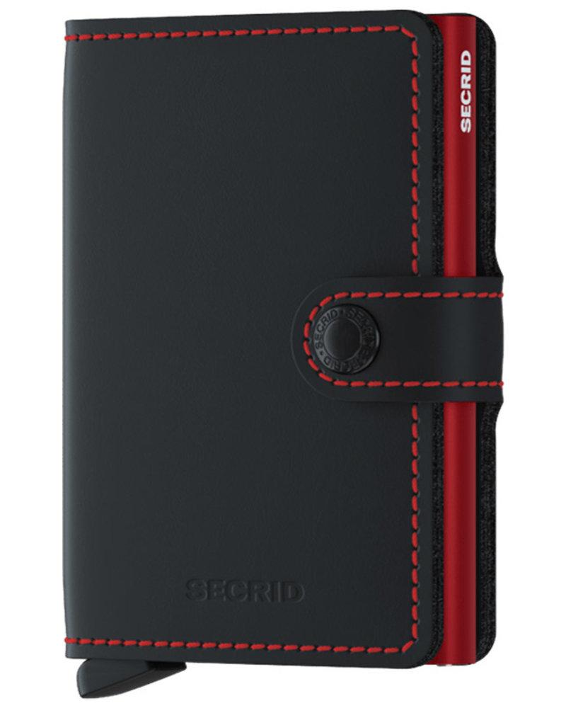 Secrid Secrid Matte Black & Red Mini Wallet