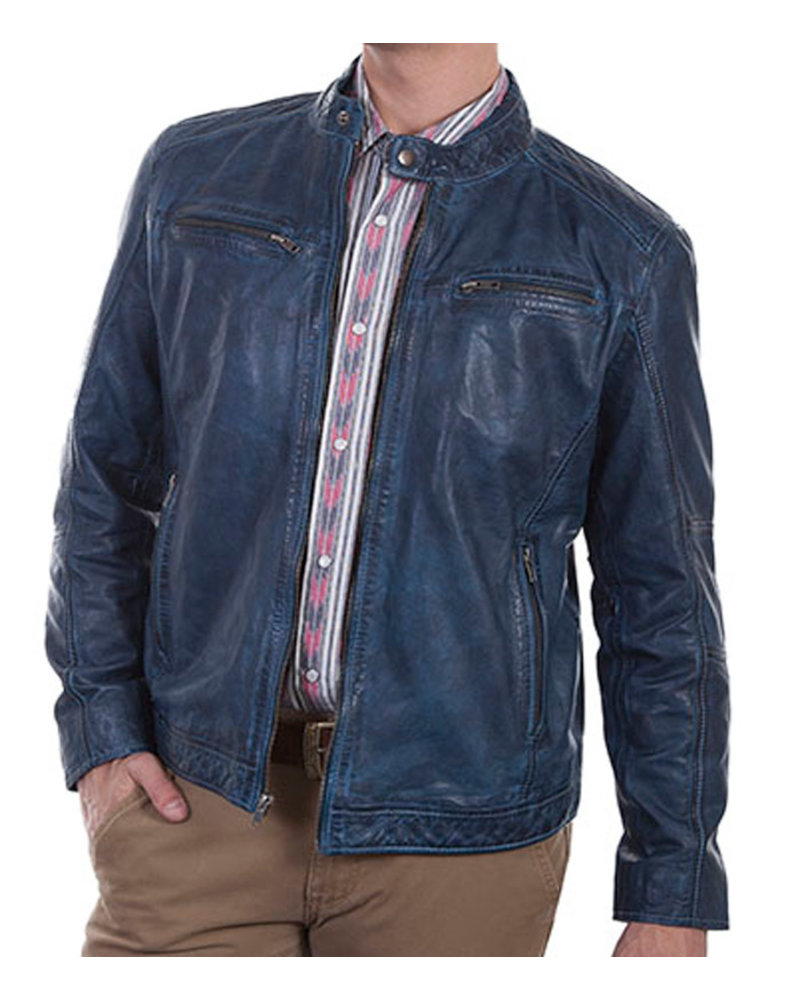 Scully Scully Denim Leather Lambskin Jacket