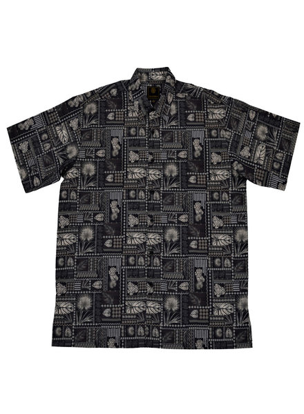 F/X Fusion F/X Fusion SS Black Botanical Shirt