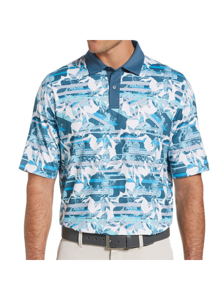 Callaway Callaway White Structured Floral Polo